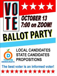 BALLOT PARTY!!! @ Your House on ZOOM!